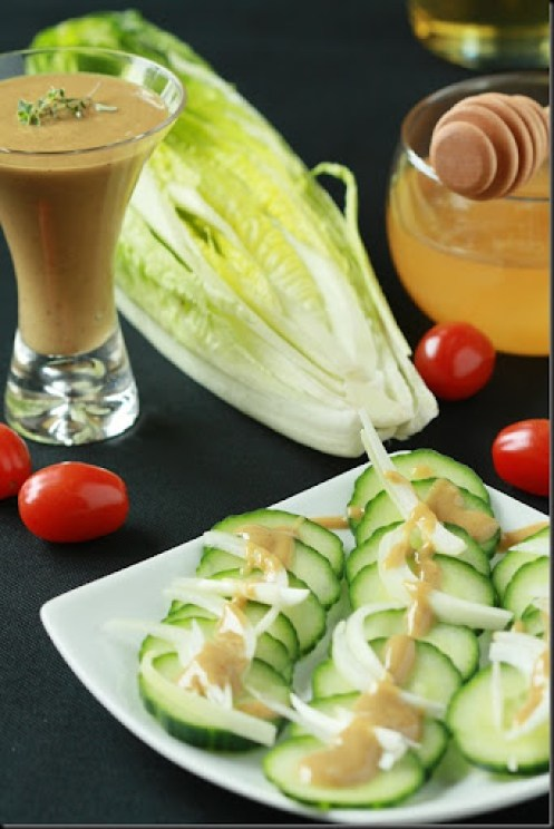 Honey Mustard Dressing - simple honey, mustard and balsamic dressing that can dress up any green salad. Easy to make, delicious to eat!