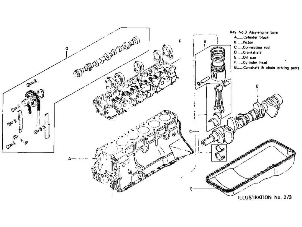 Datsun 240z 260z Engine Assembly L24 L26 To Nov 74