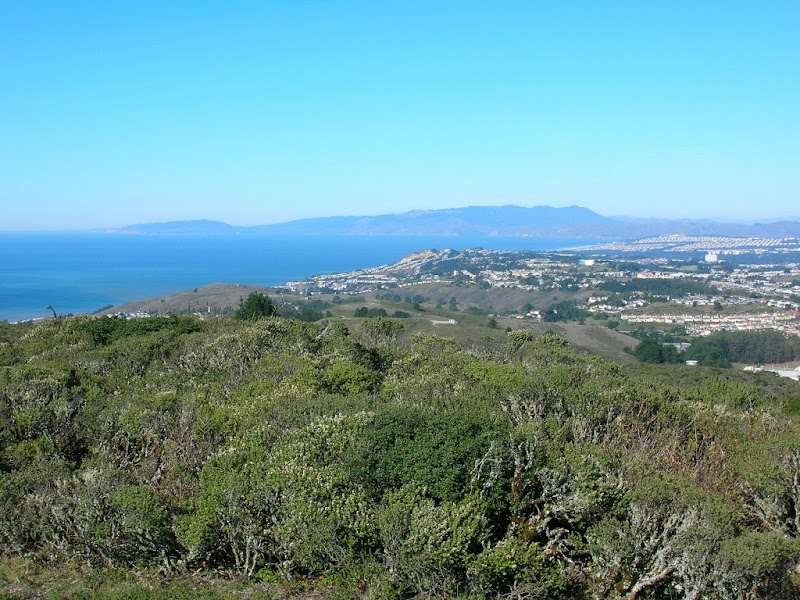 View north to Marin and Point Reyes