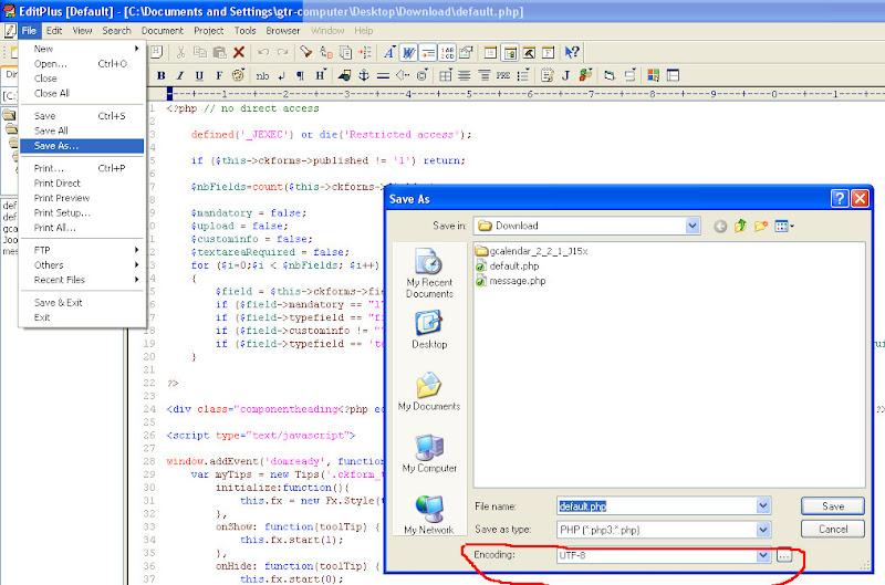encoding UTF-8