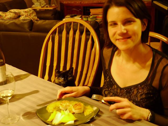 Zoe, me, and scallops