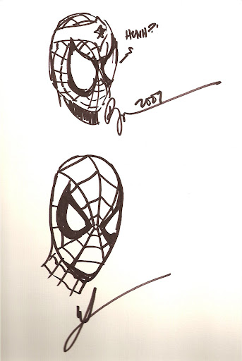 Spidey by Phil Jimenez (top) and Mike McKone (bottom)