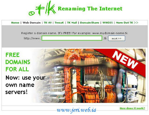 domain gratis dot Tk
