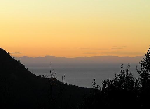 Blick auf das 70 km entfernte Zypern