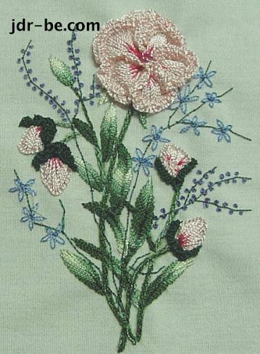buttercup bouquet in brazilian embroidery