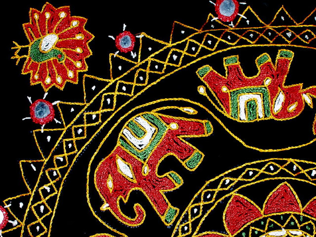 Hmong Embroidery Ii Chain Stitch And Mirrors Embroidery For Ducks
