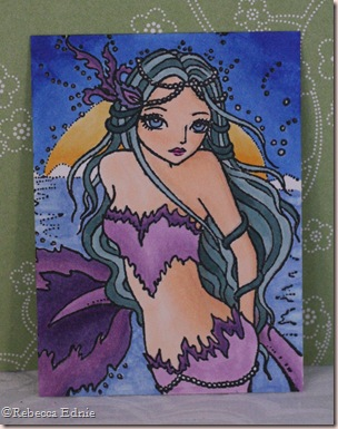 flame mermaid ATC