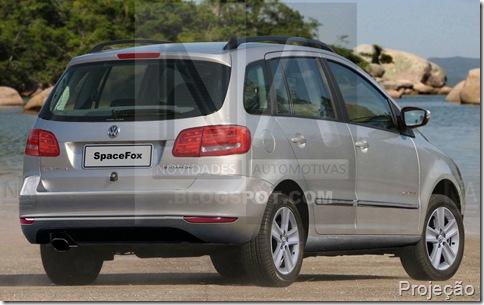 Volkswagen nova spacefox 2010-2011 logo NA