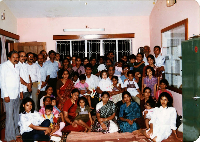 Wing Commander K K Srinivasan with the Kids at his home