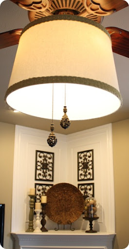 drum shade on ceiling fan