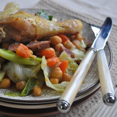 Cooketa-Piletina sa kupusom i slanutkom