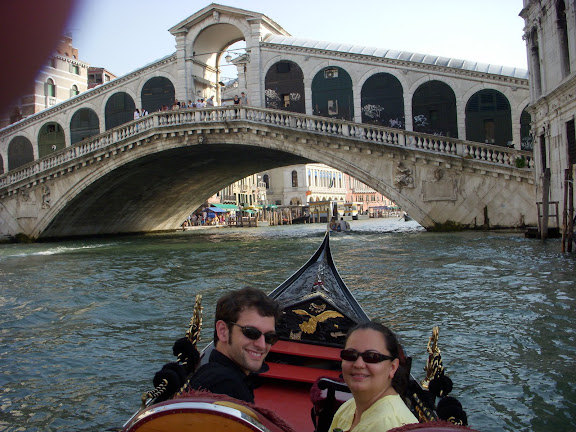 On the gondola ride in the grand canal!