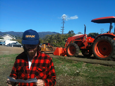 Than in front of tractor