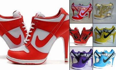 View Women Nike Dunk SB Low and SB High Heels