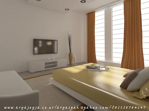 Desain Interior Kamar Tidur Utama Pada Ruangan 5,5 x 4,5 m ...