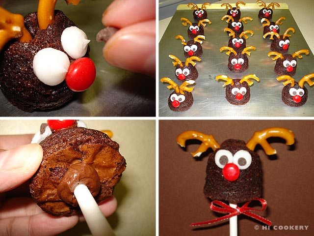 Rudolph Brownie Pops