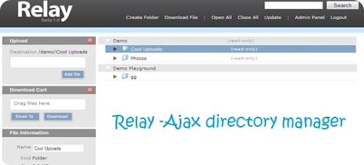 Relay -Ajax directory manager