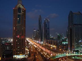 Dubai's nightime skyline