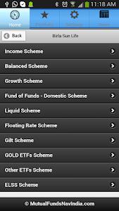 Mutual Funds India PRO screenshot 1