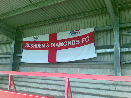 Rushden fans mark their territory pre-match.