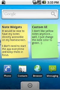Sweet Notes screenshot 1