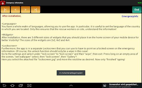 Emergency Information screenshot 8