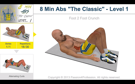 8 Minutes Abs Workout screenshot 19