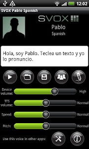 SVOX Spanish Pablo Voice screenshot 0