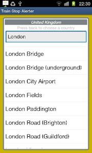 Train Stop Alerter screenshot 1