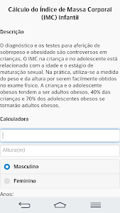 IMC Infantil e adulto screenshot 0