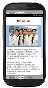 Contact Dermatitis Information screenshot 1
