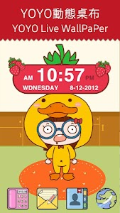 Strawberry Clock Widget screenshot 0