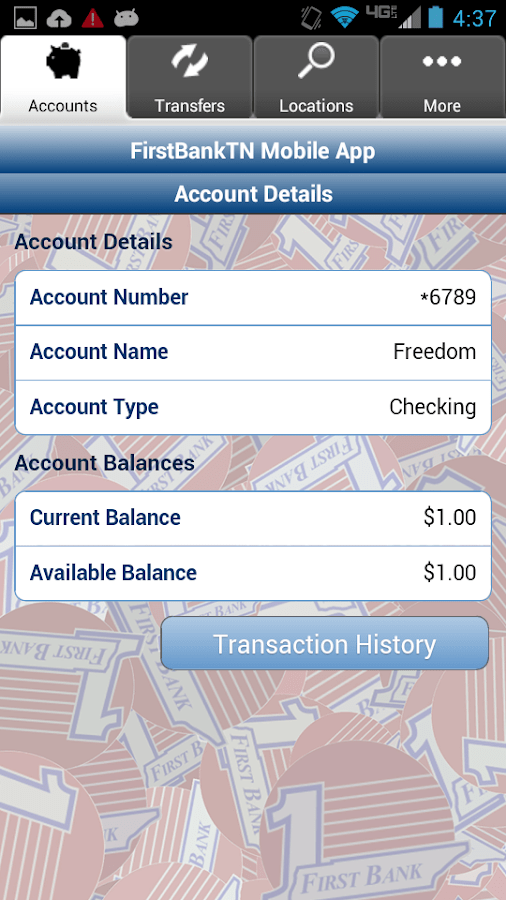 Adding Person Bank Account