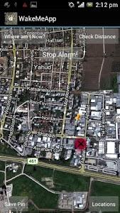 WakeMeApp GPS Alarm screenshot 2
