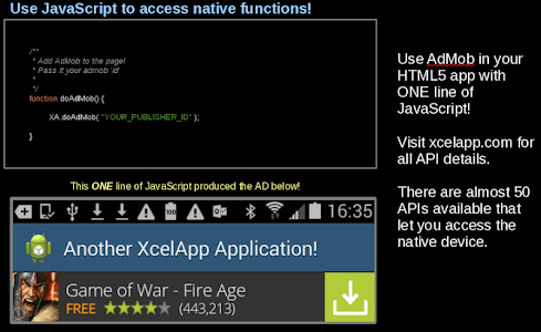 XcelApp - Android Native HTML5 screenshot 5