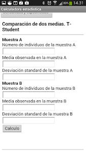 Calculadora estadistica screenshot 1