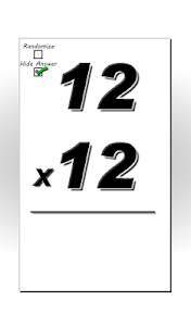 Multiplication Flash Cards screenshot 3