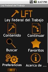 Ley Federal del Trabajo screenshot 0