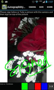 Autograph My Photo screenshot 0