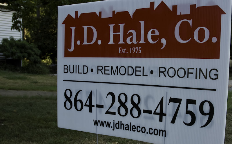 The J.D. Hale Company (JD Hale, Co) is a wholly owned subsidiary of the RC Jones Company. Jim Hale is the owner of the RC Jones Company.  JD Hale construction company advertises using the following words: Build Remodel Roofing.  My experience with the RC Jones Company of Greenville South Carolina: A review of experiences, promises, and contract issues.