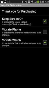 Eye Strain helper / SmartWatch screenshot 0