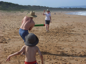 Beach cricket, Culburra, NSW