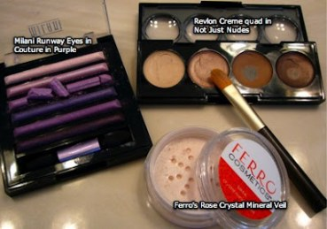 Bionic Beauty's purple eye look