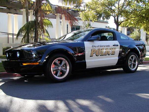 mustang police car