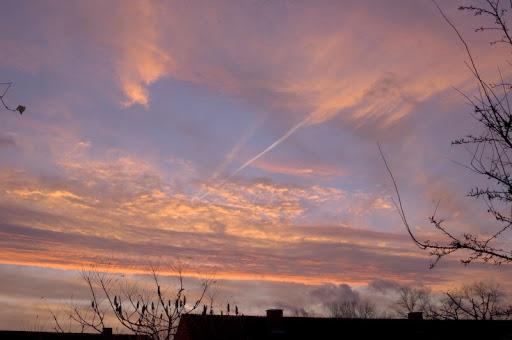 Wolkenhemel na zonsopgang