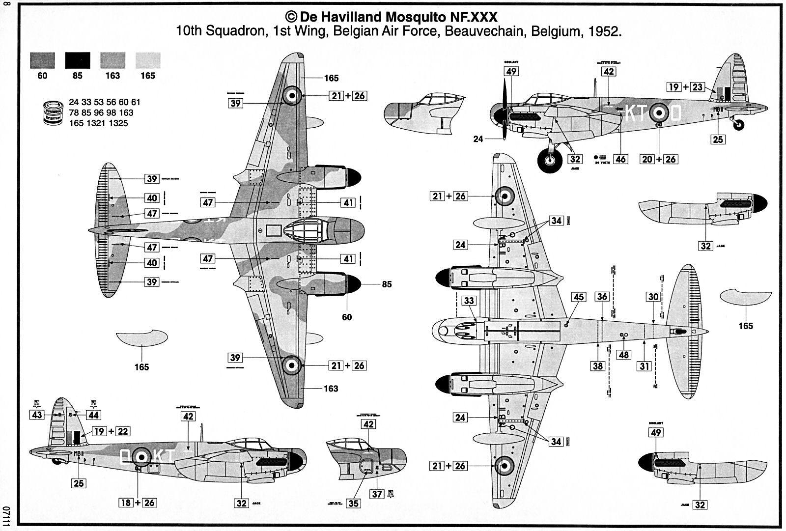 Airfix 1 48 De Havilland Mosquito Nf 30