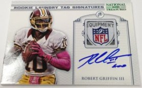 2012 Panini National Treasures Robert Griffin III Laundry Tag Auto