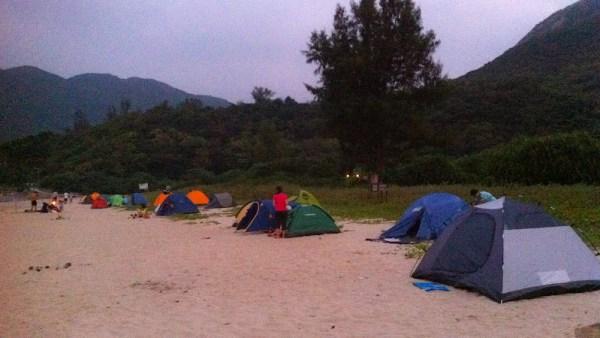 大浪西灣露營