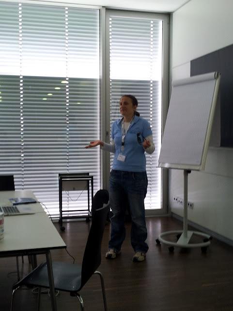 Bild von Ute während des Vortrages