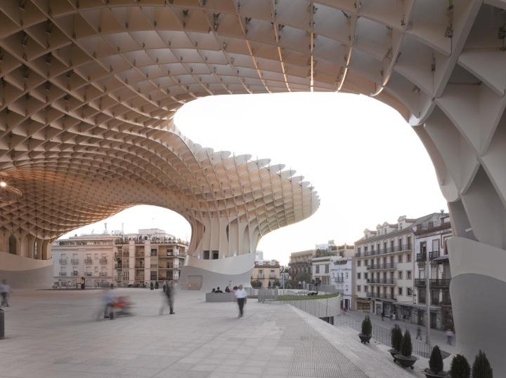 *西班牙-賽維利亞廣場古城新地標:大型蜂巢傘狀建築Metropol Parasol! 7
